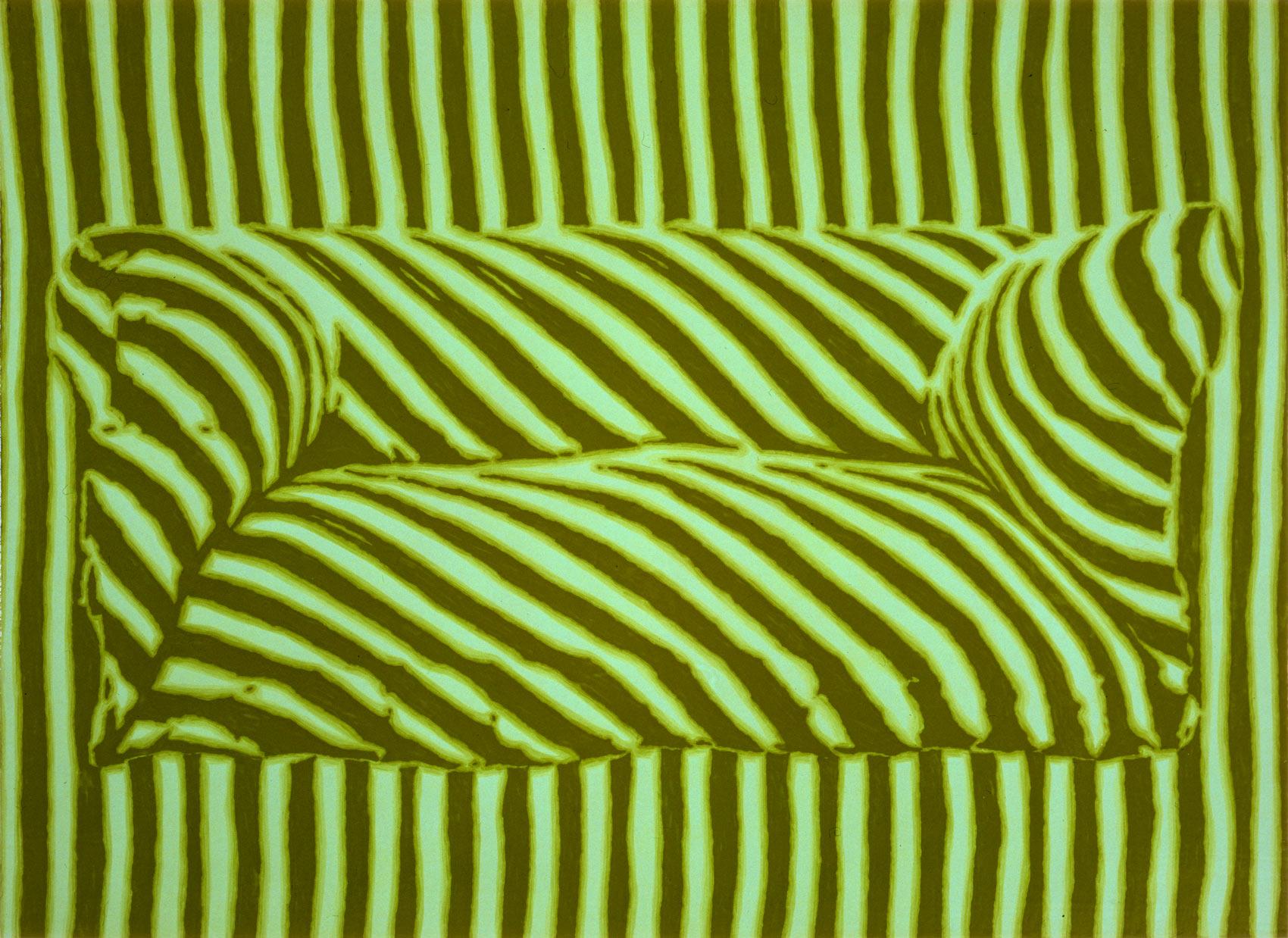 Canapé, 1998, peinture alkyde sur Aerolam, 123 x 163 cm