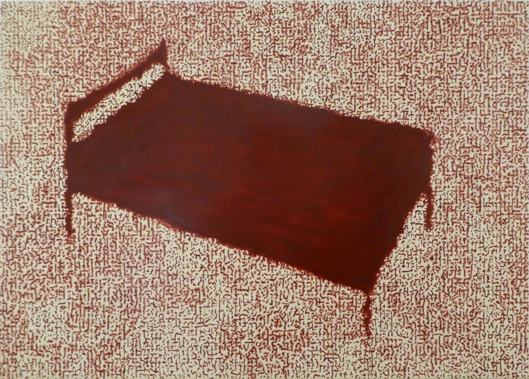 Sans titre, 2017, peinture acrylique sur bois, 50 x 70 cm