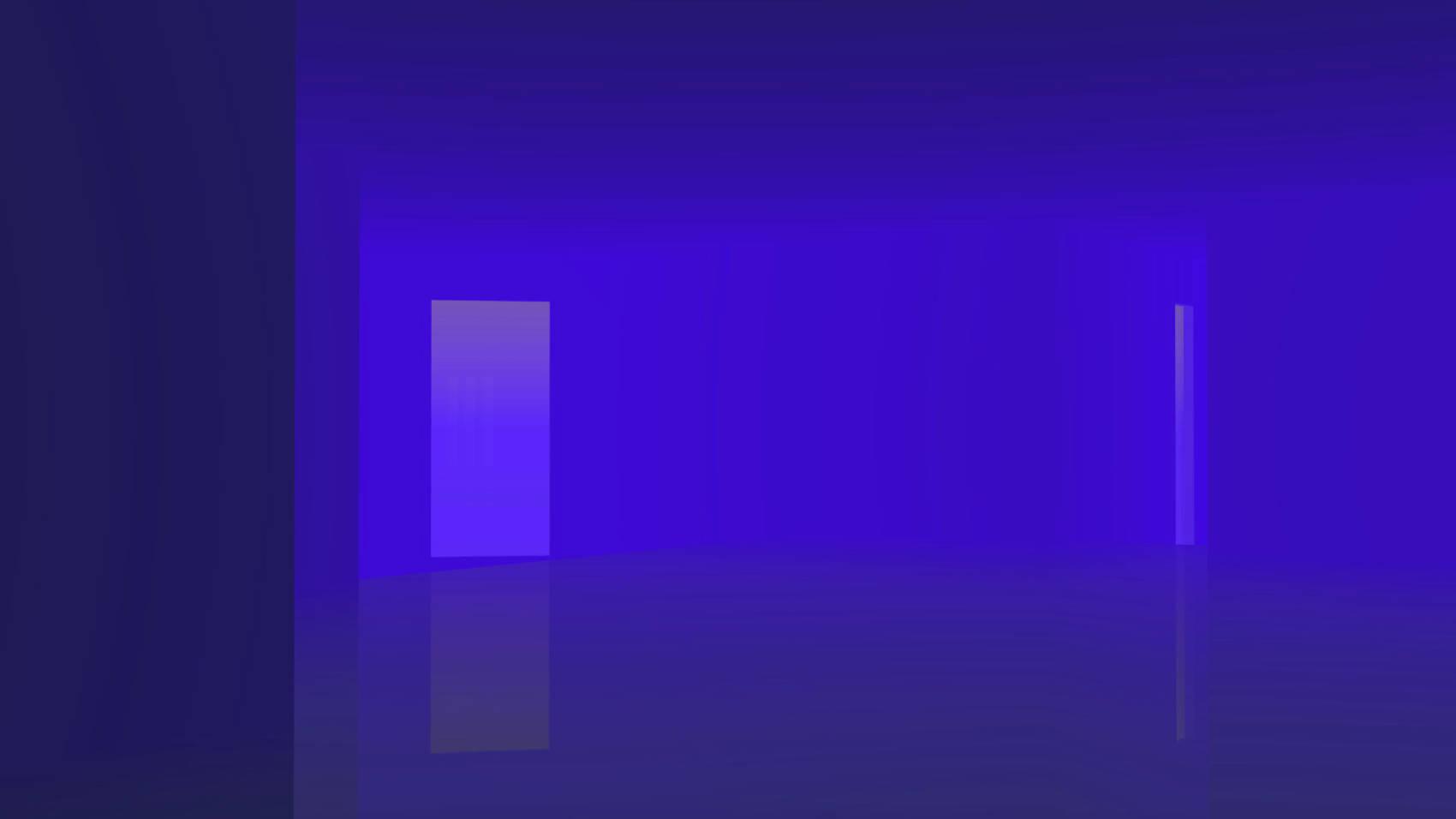 Earth Blue Room, 2017, Jet d'encre, 77 x 137 cm