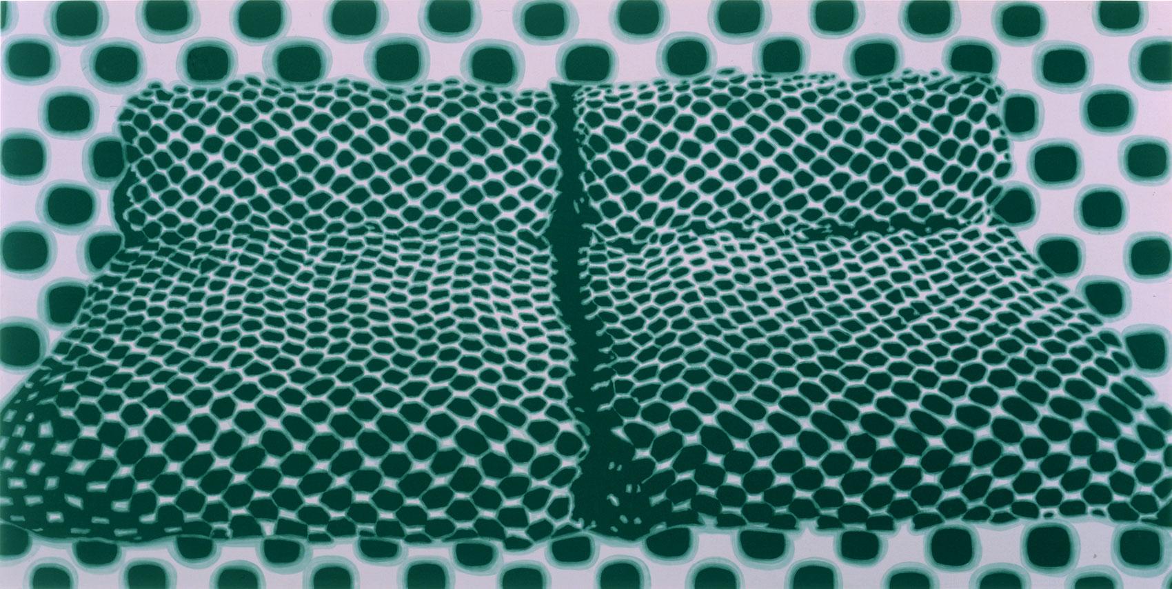 lits, 1998, peinture alkyde sur Dibond, 90 x 160 cm