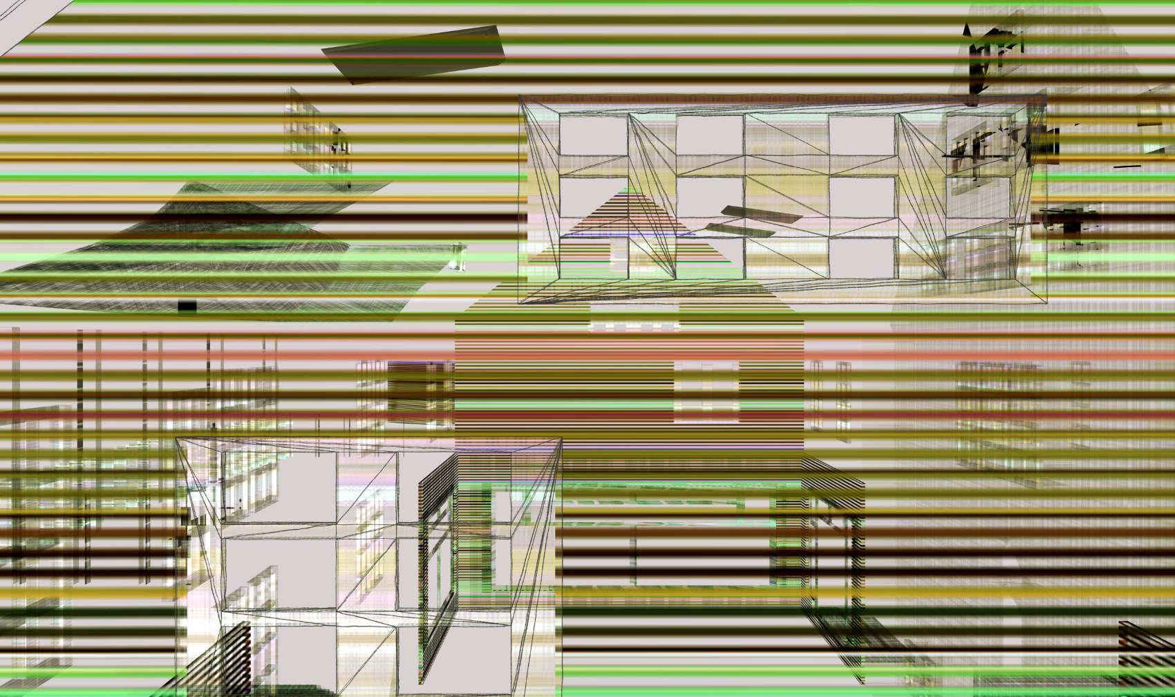 Broken House 4, 2017, jet d'encre pigmentaire sur papier Fine Art, 65 x 109 cm