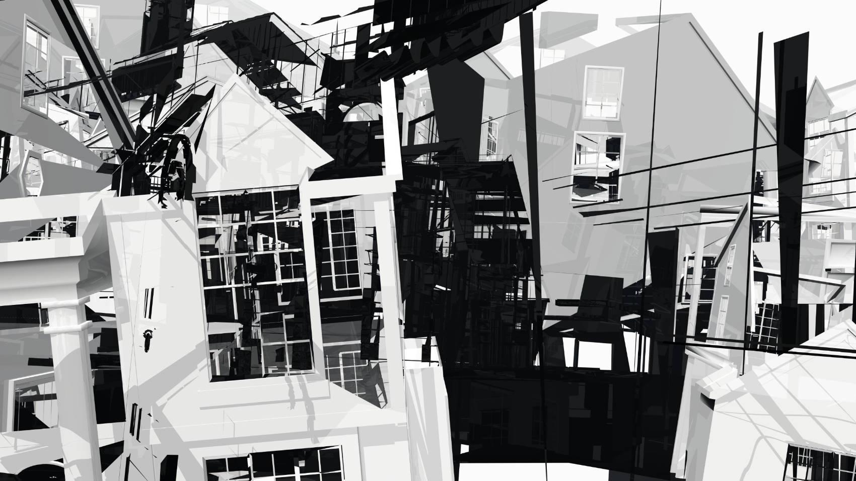 Broken Architecture 7, 2018, Jet d'encre, 69 x 120 cm