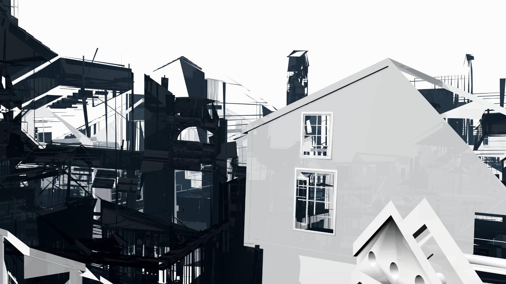 Broken Architecture 11, 2018, Jet d'encre, 69 x 120 cm
