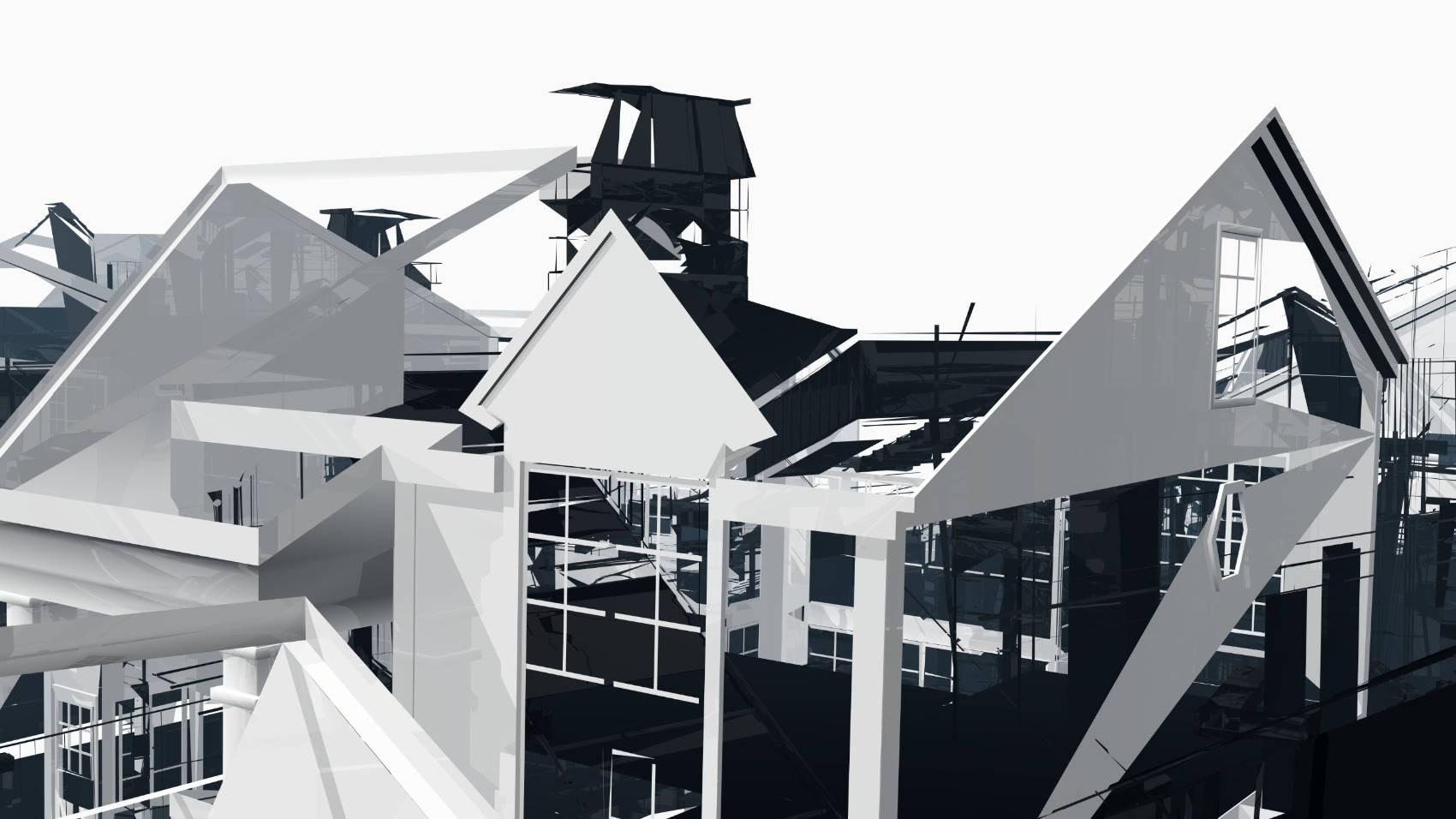 Broken Architecture 12, 2018, Jet d'encre, 69 x 120 cm
