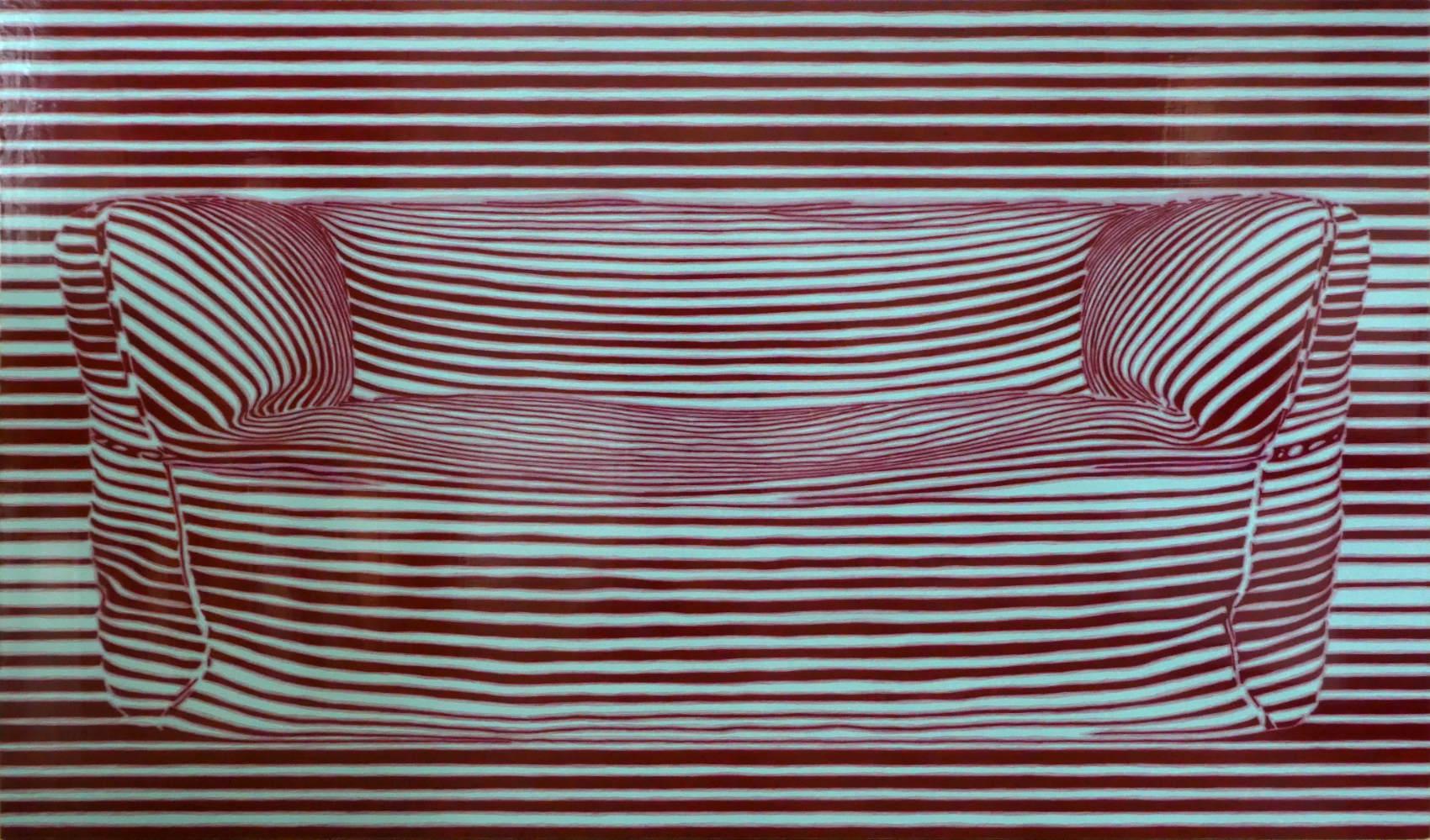 Canapé 2018, Peinture acrylique sur Corapan, 95 x 160 cm