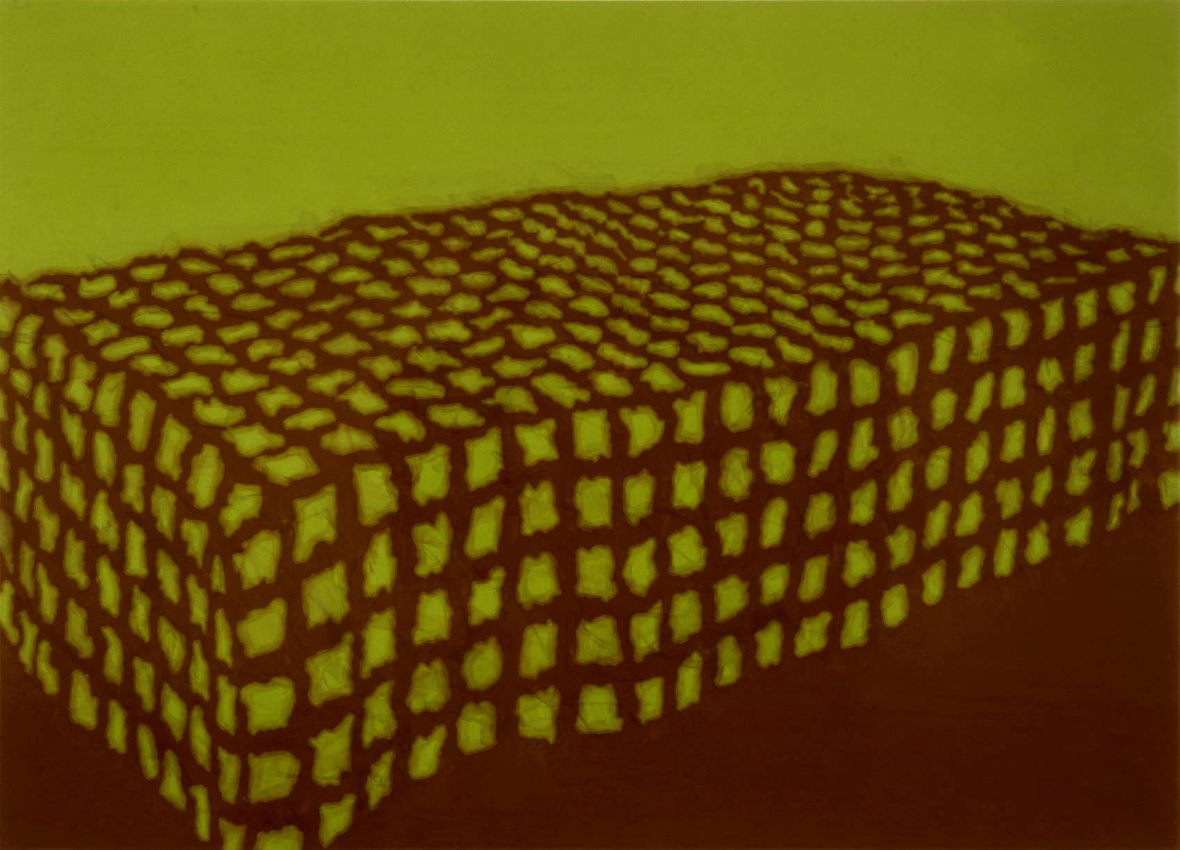 Couverture, 1997, peinture alkyde sur Aerolam, 81  x 122 cm