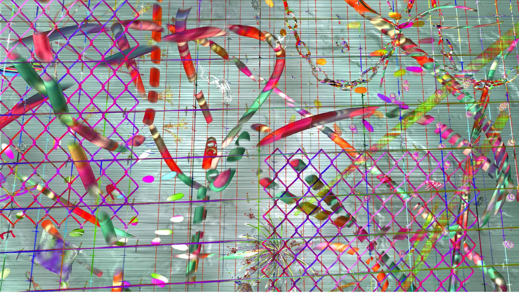 Virtual fence 4, 2018, Jet d'encre pigmentaire sur papier fine art, 101 x 170 cm, édition 3 ex.