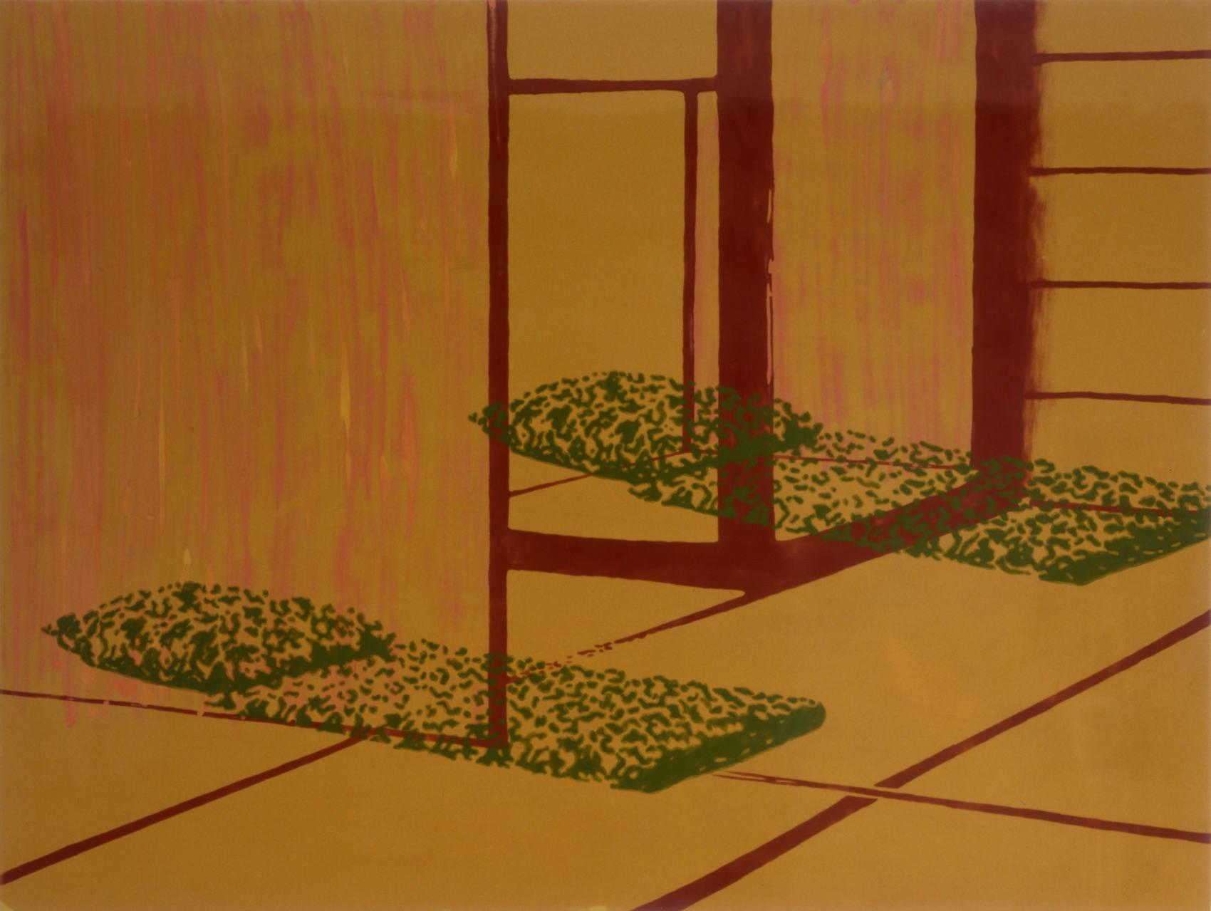 Intérieur, 1995, peinture alkyde sur Aerolam, 123 x 163 cm