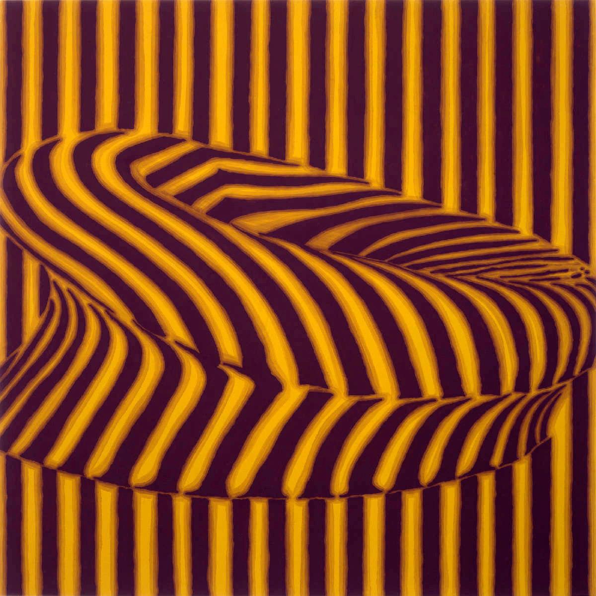 Sofa, 1998, peinture alkyde sur Aerolam, 123  x 122 cm