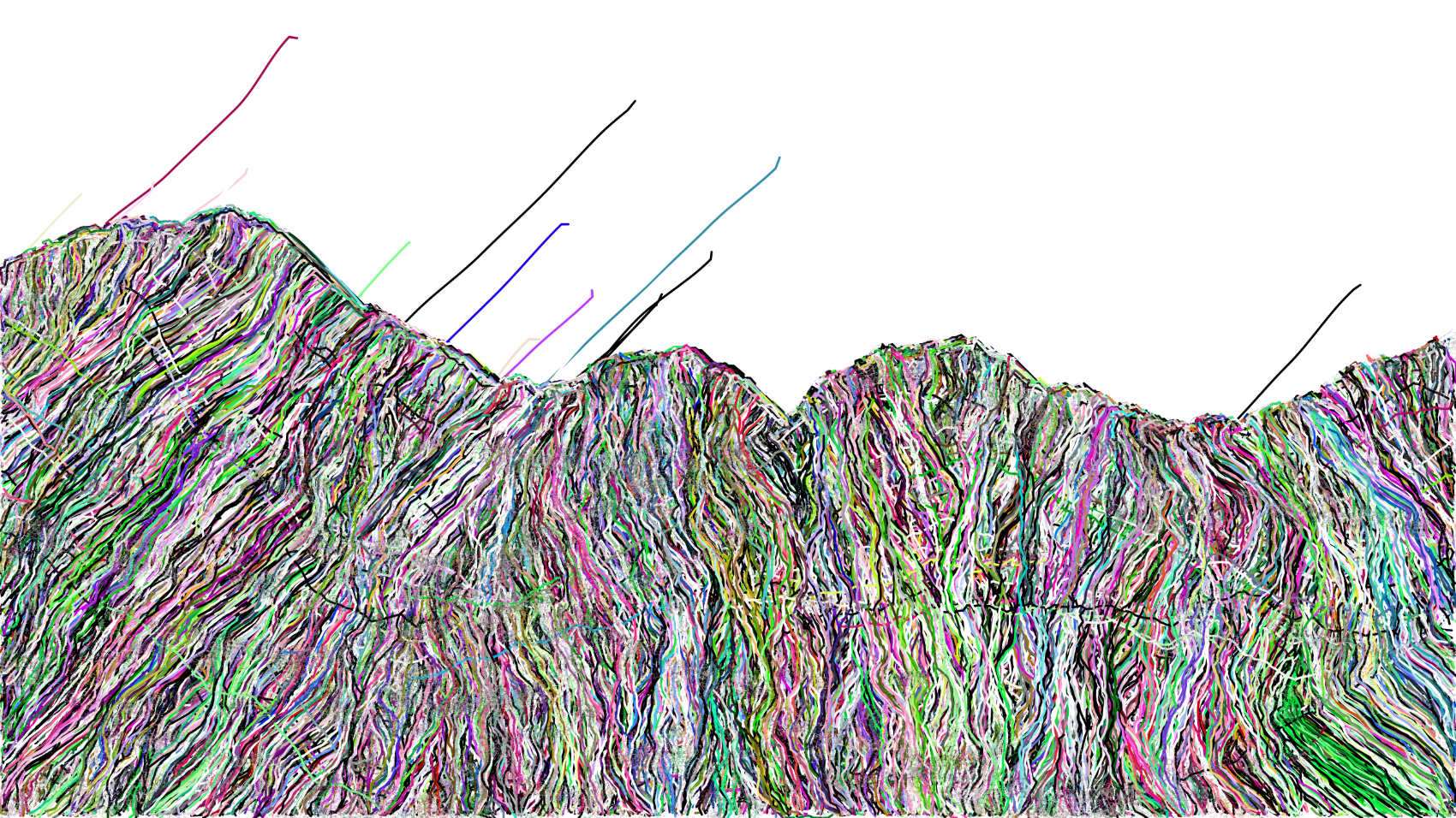 landscape data, 2018, inkjet on Hahnemühle fine art paper