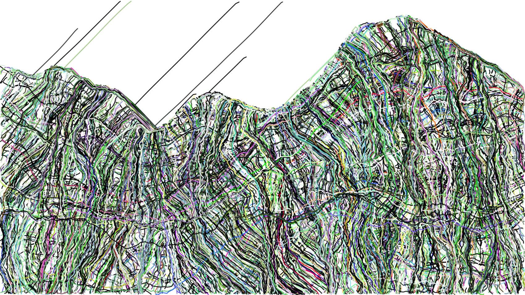 landscape data, 2018, inkjet on fine art paper