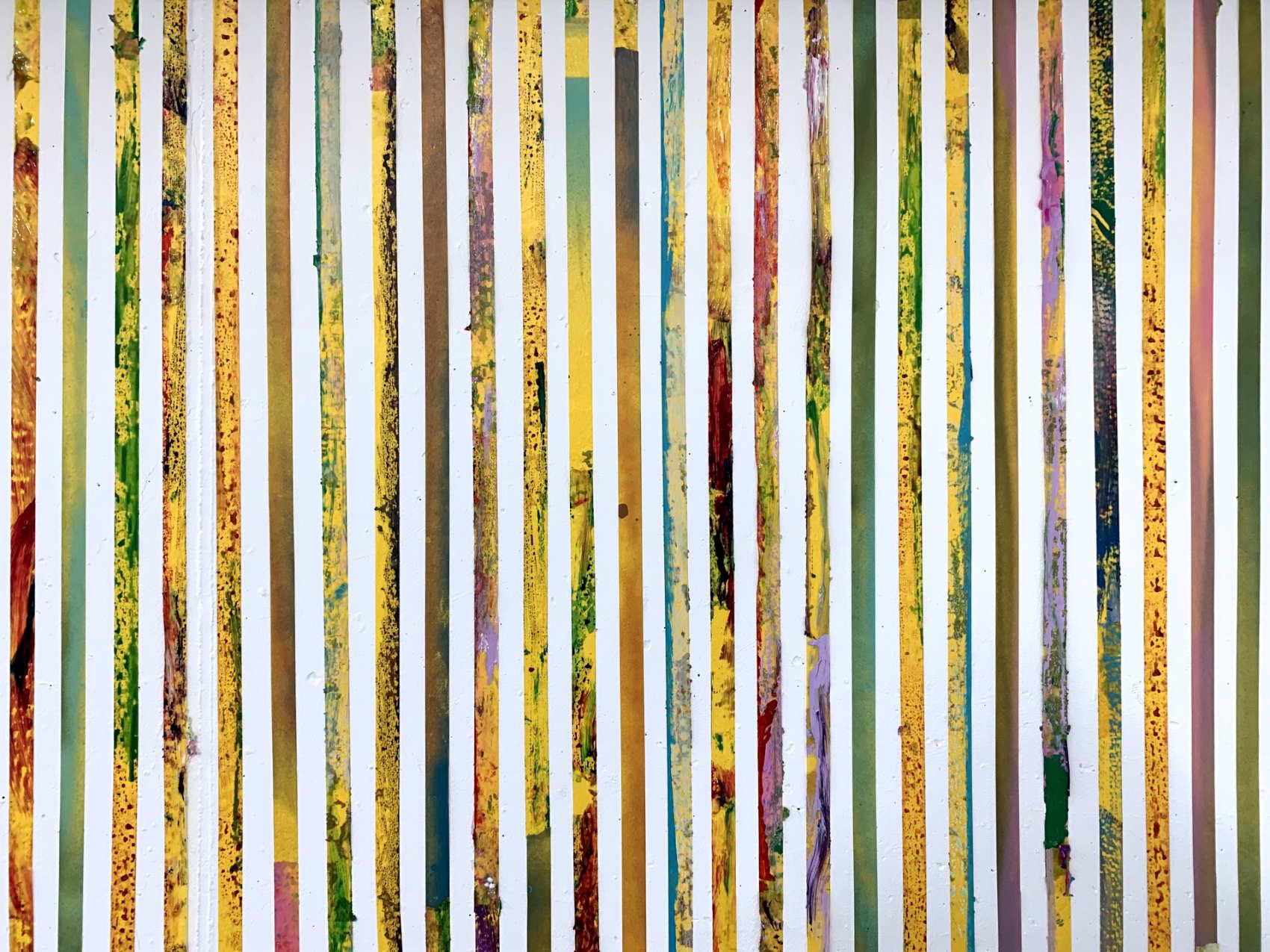 Installation, 2019, Club d'Art Contemporain, Lausanne,  ruban adhésif, peinture acrylique