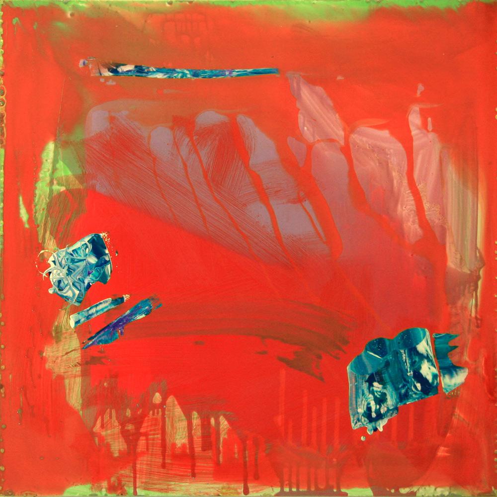 Sans titre, 2015, 100 x 100 cm alkyde sur Dibond