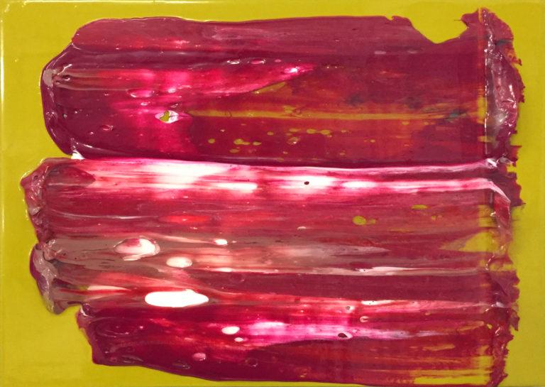 Sans titre, 2018, peinture acrylique sur bois, 20 x 30 cm