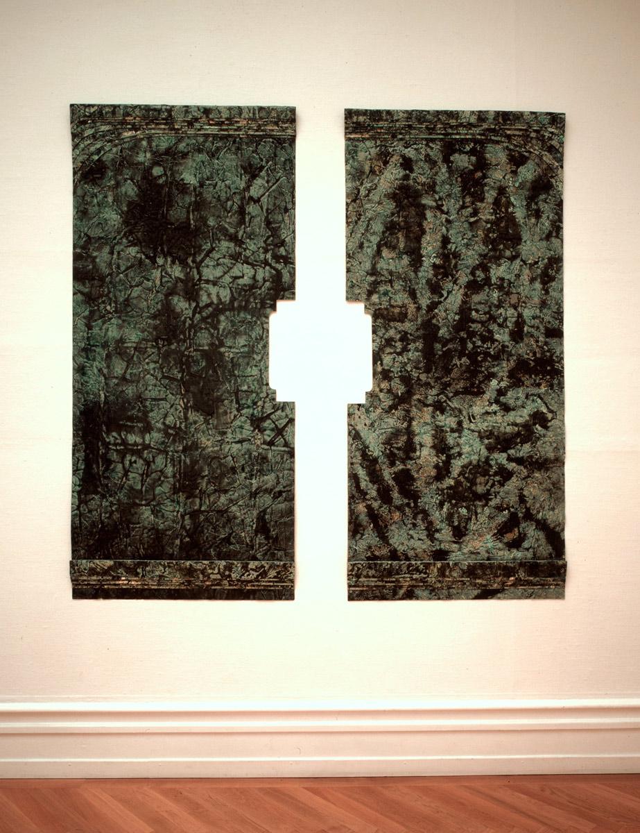 Installation Kunsthalle Bern, peinture sans support, 1987
