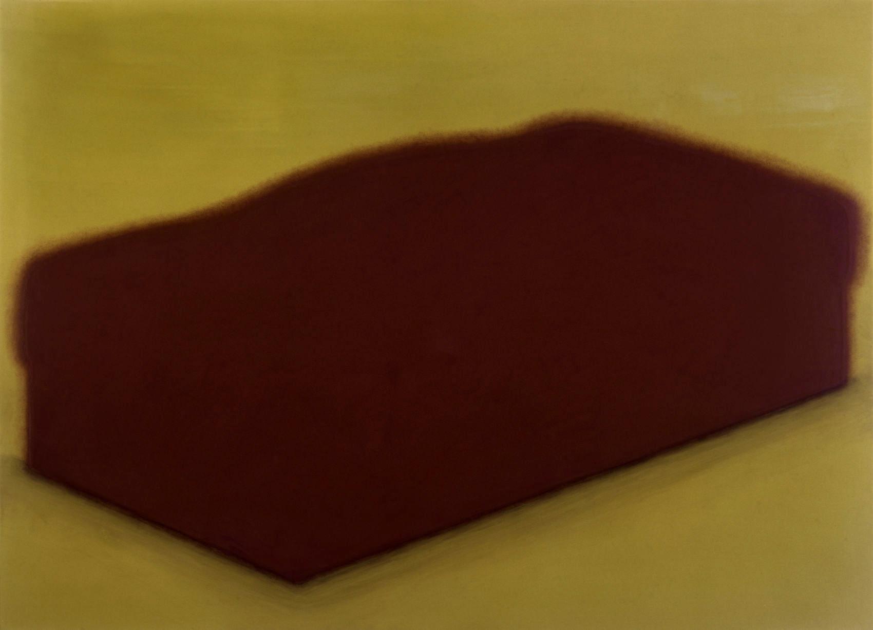 Lit, 1996, peinture alkyde sur Aerolam, 123  x 163 cm