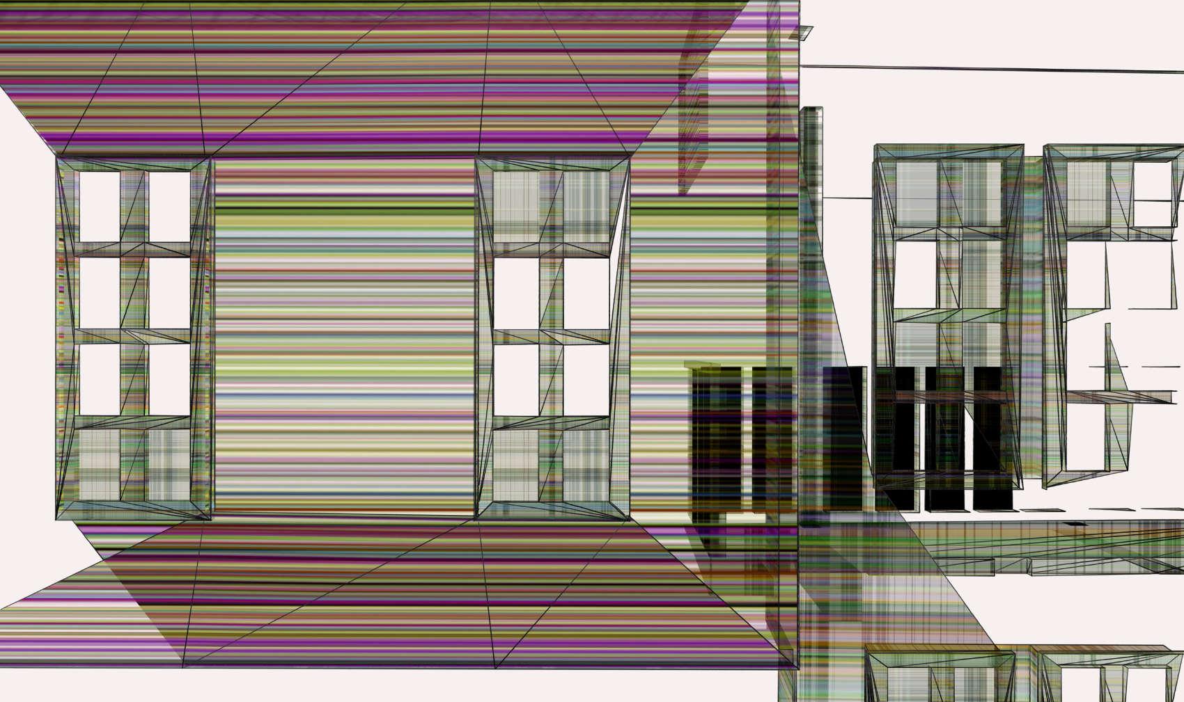 Broken House 7, 2017, jet d'encre pigmentaire sur papier Fine Art, 65 x 109 cm