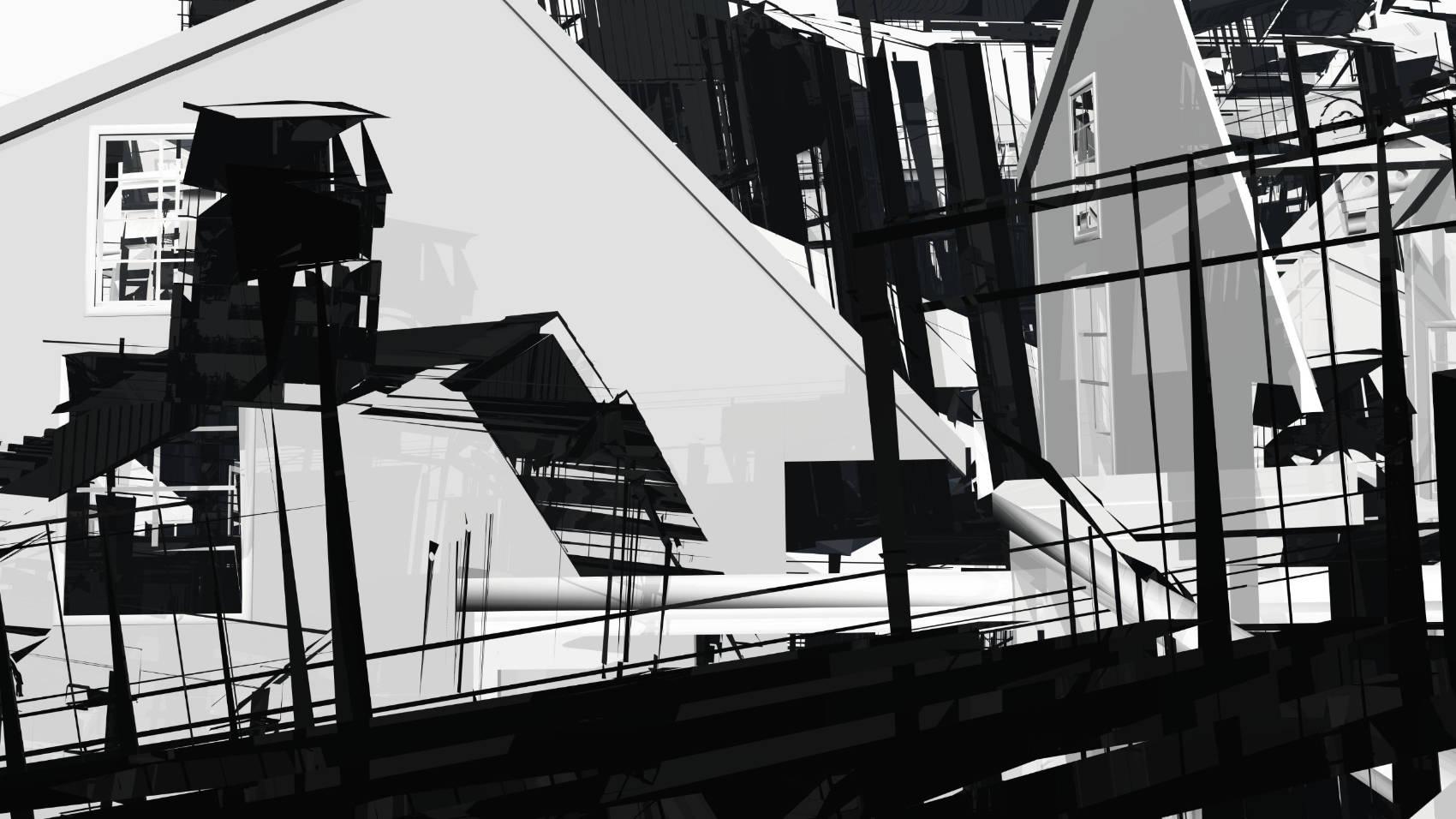 Broken Architecture 8, 2018, Jet d'encre, 69 x 120 cm