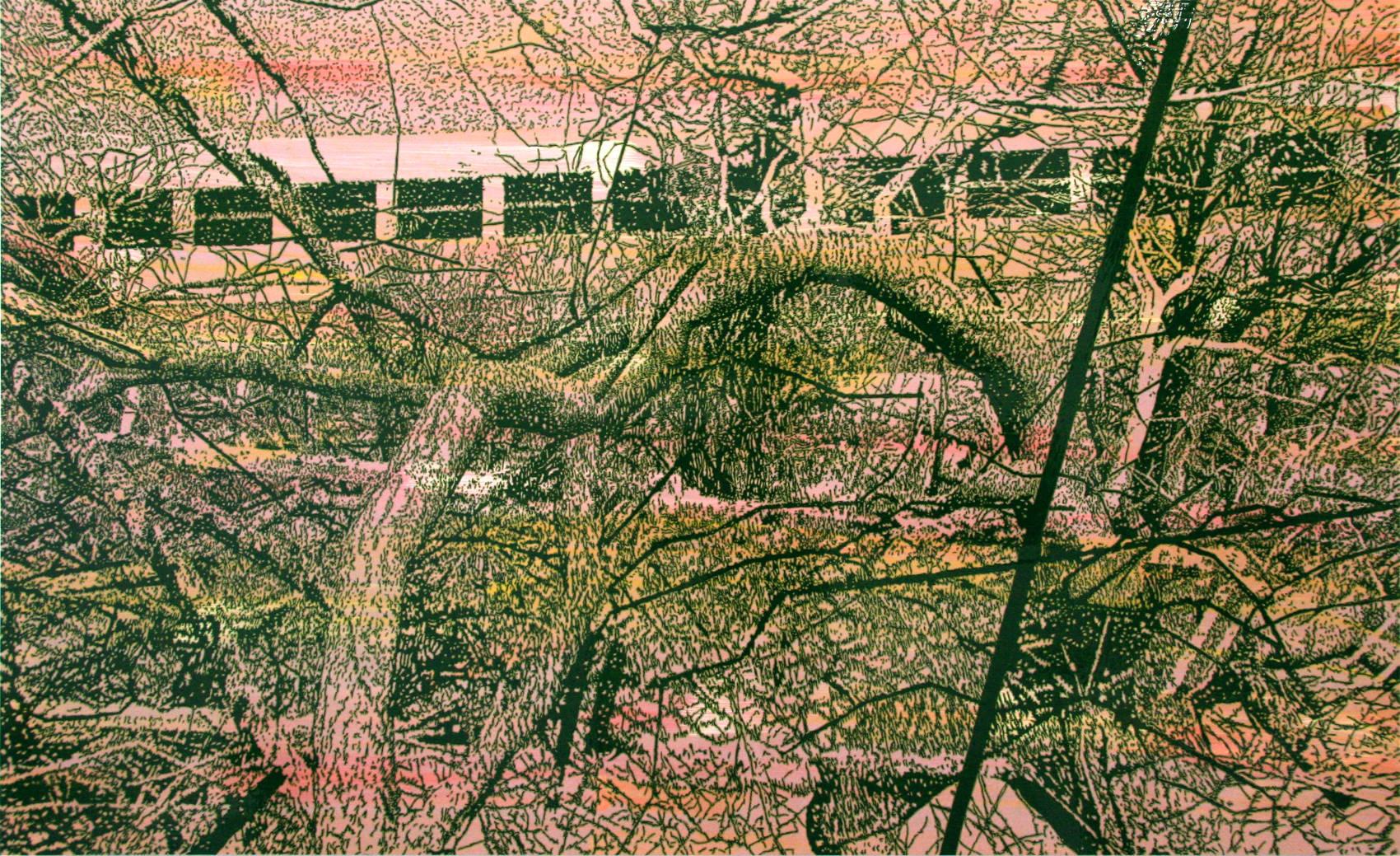 Landscape, 2011, peinture alkyde sur Dibond, 125 x 205