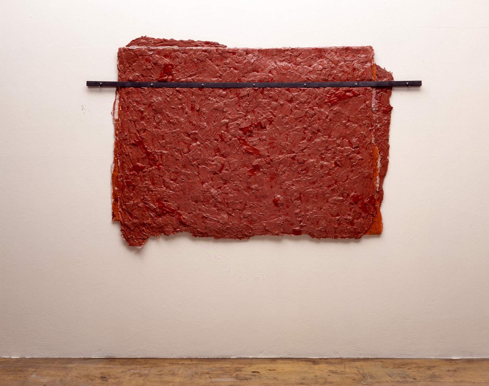 Sans titre, 1991, peinture sans support pliée, acier,   env. 110 x 150 x 4 cm