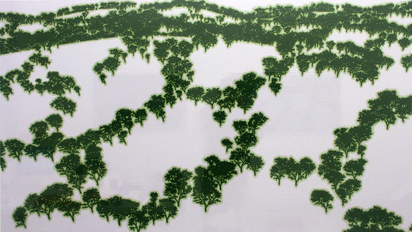 Artificial Landscape, 2002, alkyde sur Dibond, 90 x 160 cm