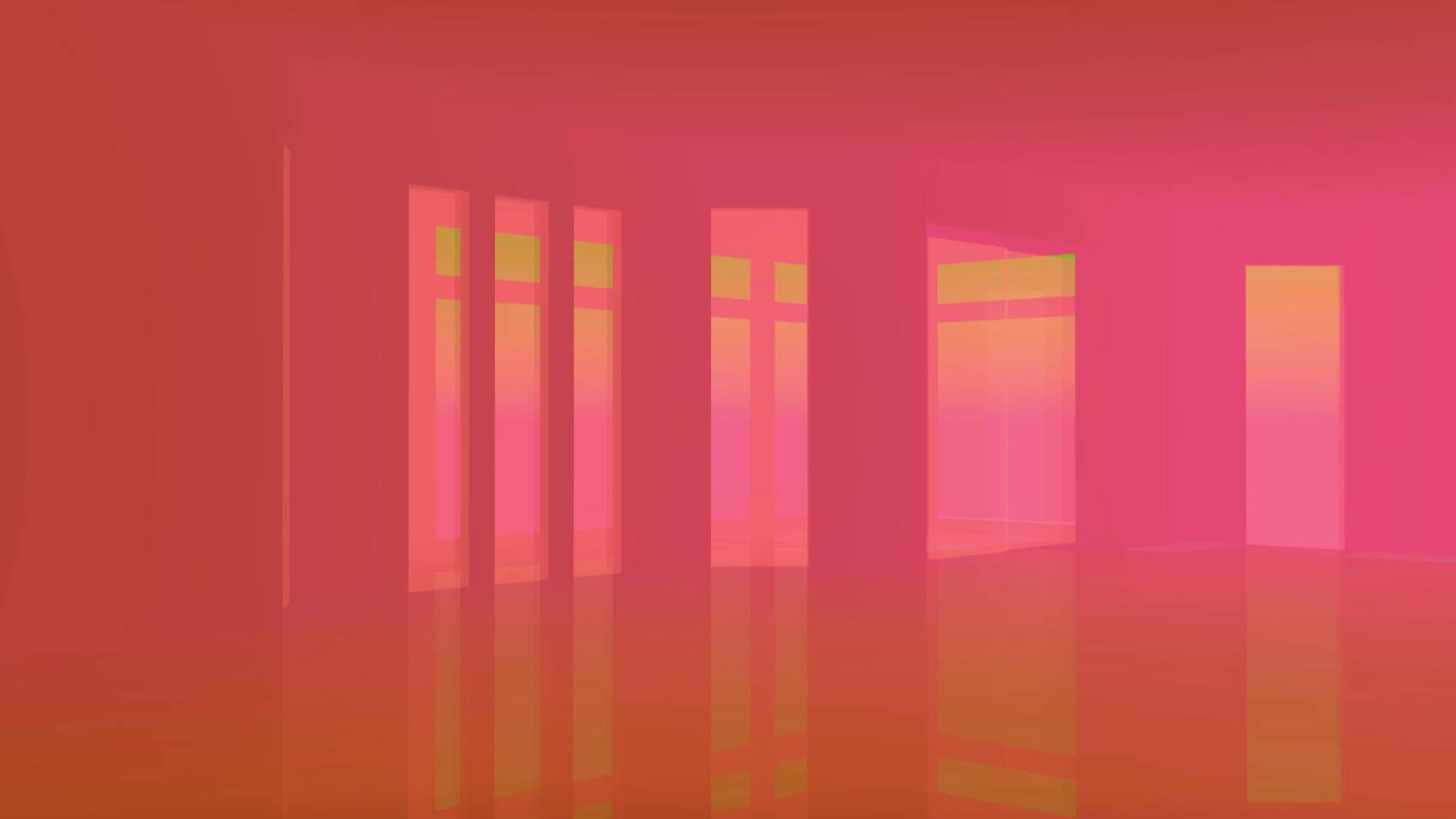 Brick Red Room, 2017, Jet d'encre, 77 x 137 cm