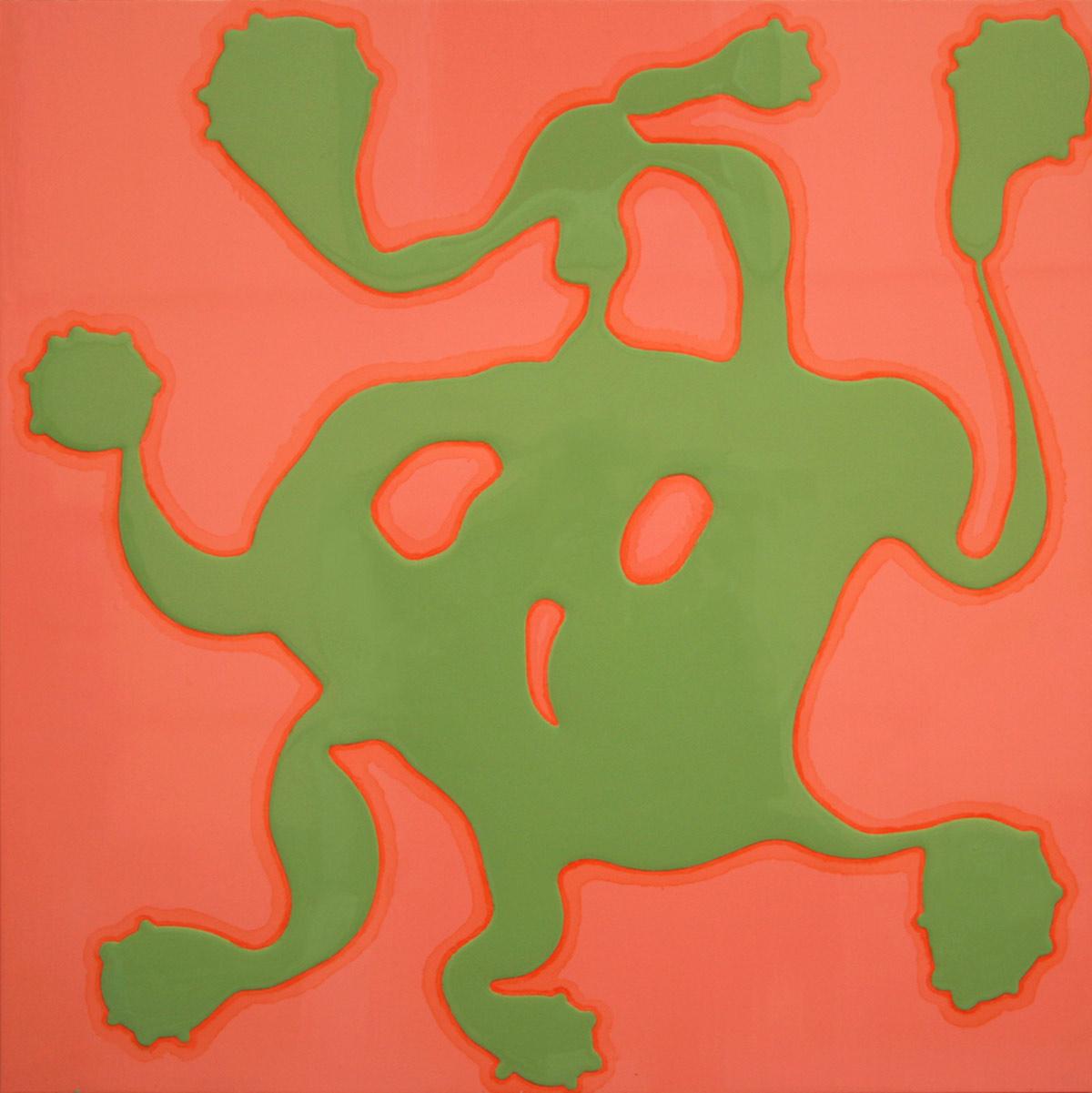 sans titre, 2002, peinture alkyfdec sur di bond, 90 x 90 cm