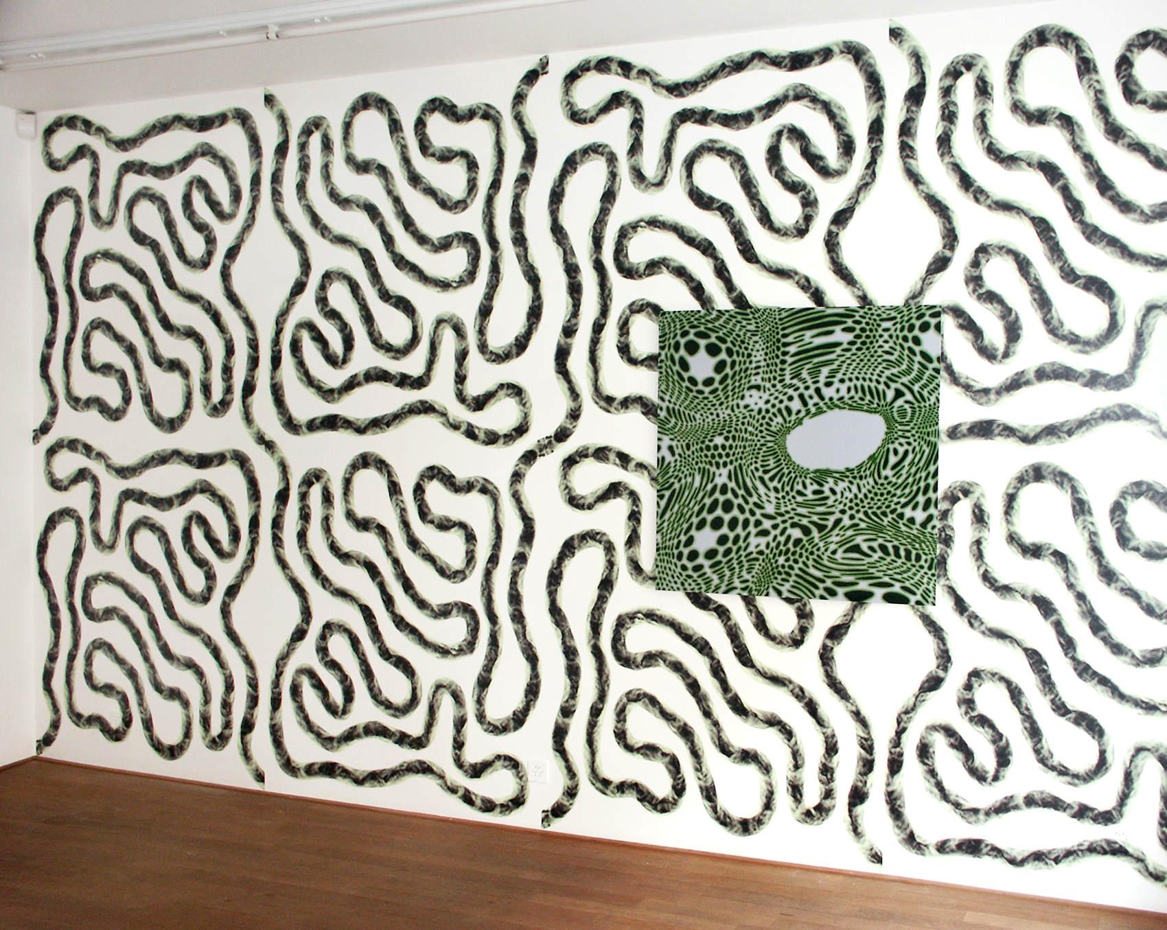 Installation Galerie Blancpain Stepczinski, 2004