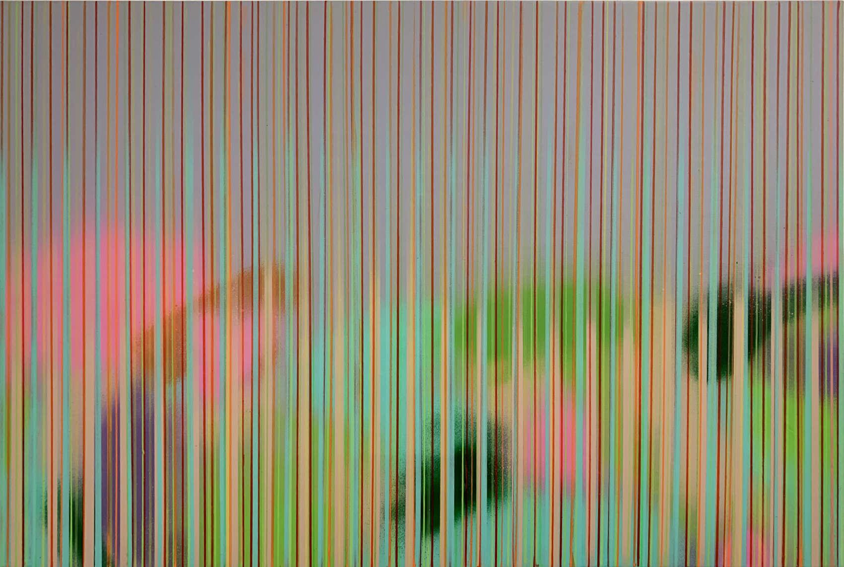 Sans titre, 2018, peinture acrylique sur bois, 40 x 60 cm