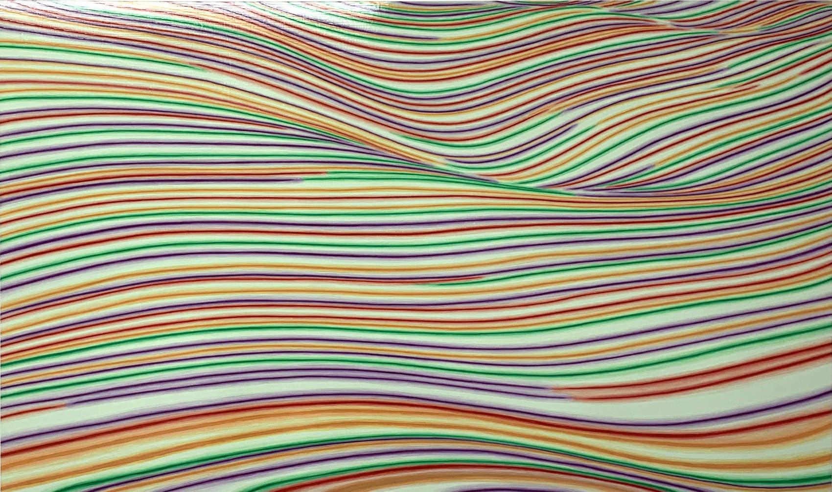 Landslide, 2019, peinture acrylique sur Corapan, 95 x 160 cm