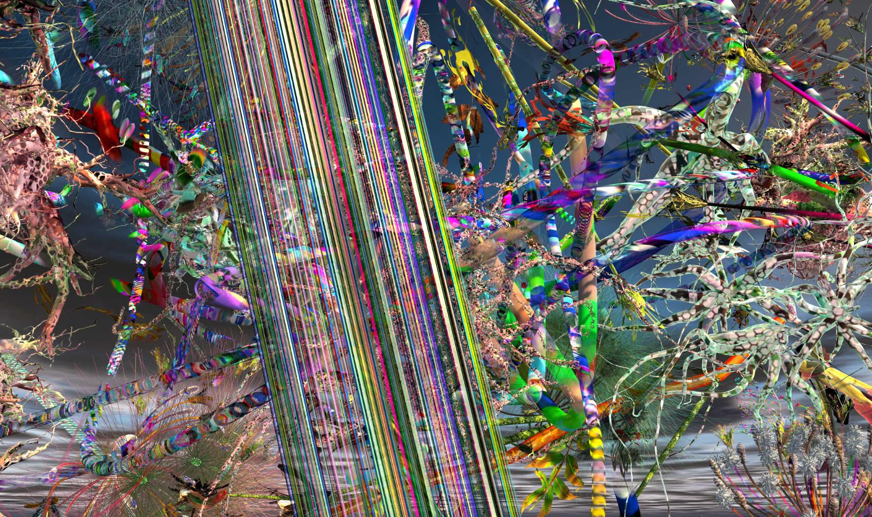Disrupted Landscape 1, 2019, jet d'encre, 90 x 152 cm