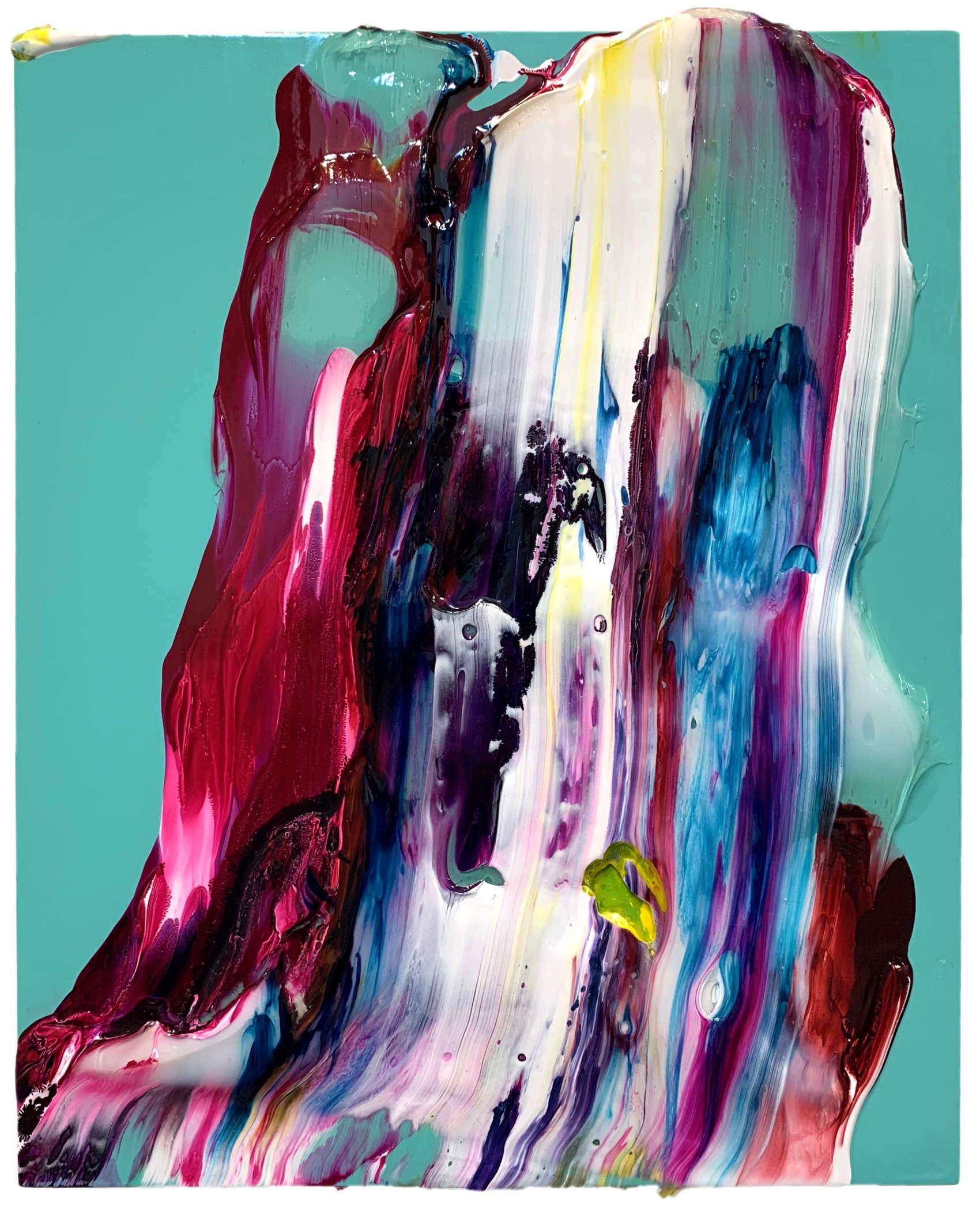 Sans titre, 2019, peinture acrylique sur bois, 24 x 30 cm