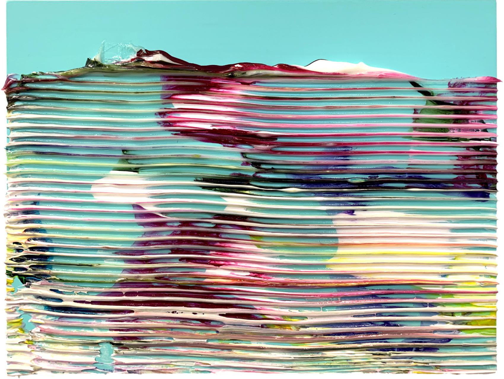 Sans titre, 2019, peinture acrylique sur bois, 30 x 40 cm