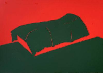 Lit, 2020, Peinture acrylique sur Dibond, 80 x 135 cm